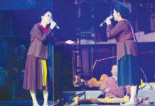 Nghệ sĩ Mai Tuyết Hoa và NSND Thanh Ngoan trong chương trình nghệ thuật Xẩm và Đời 1.